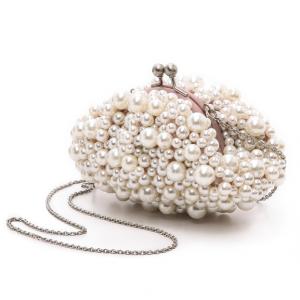 Pearl Embellished Bridal Clutch