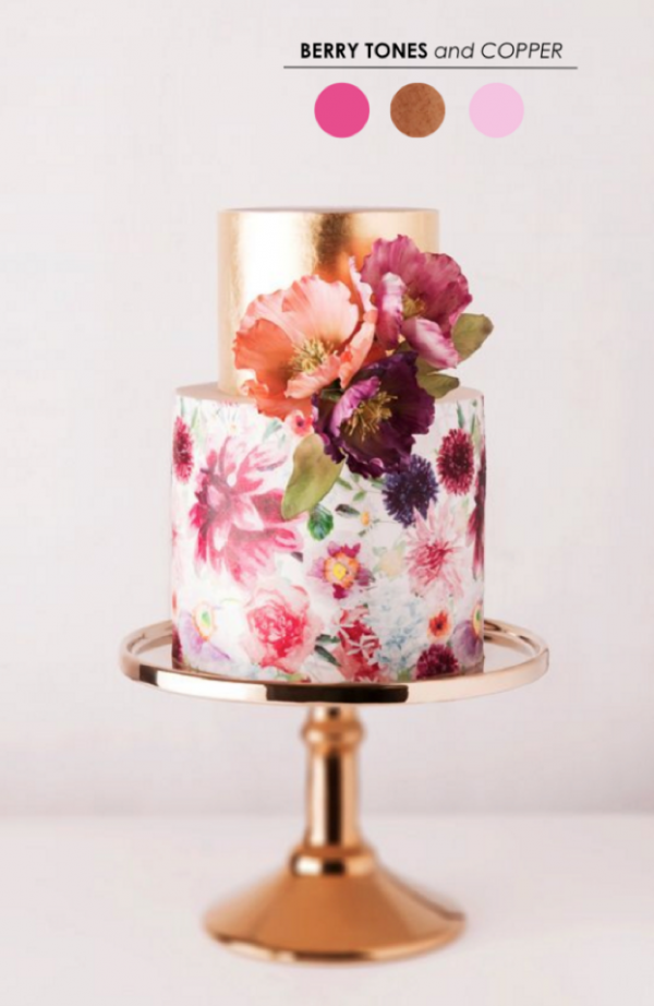 Handpainted cake by Cake Ink photography by Sotiria McDonald