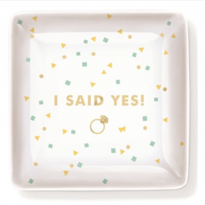 'I Said Yes!' Porcelain Trinket Tray by Fringe Studio