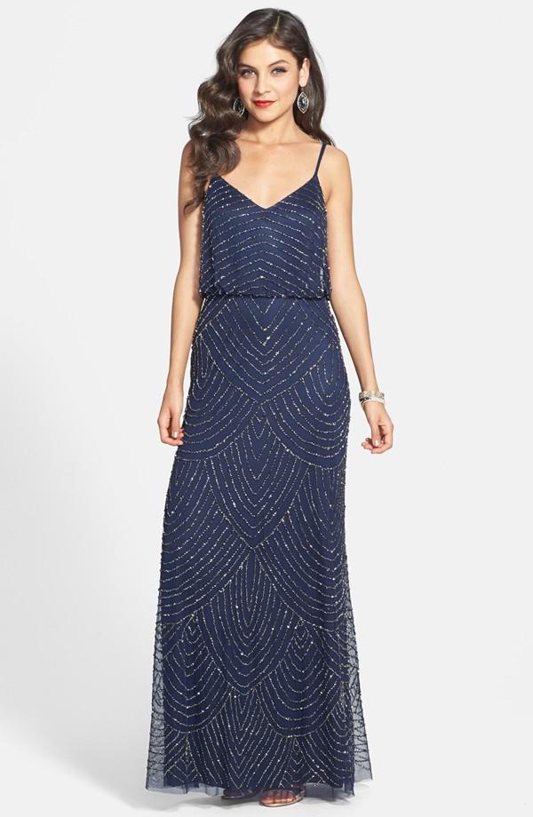 Embellished Blouson Gown (Regular & Petite)