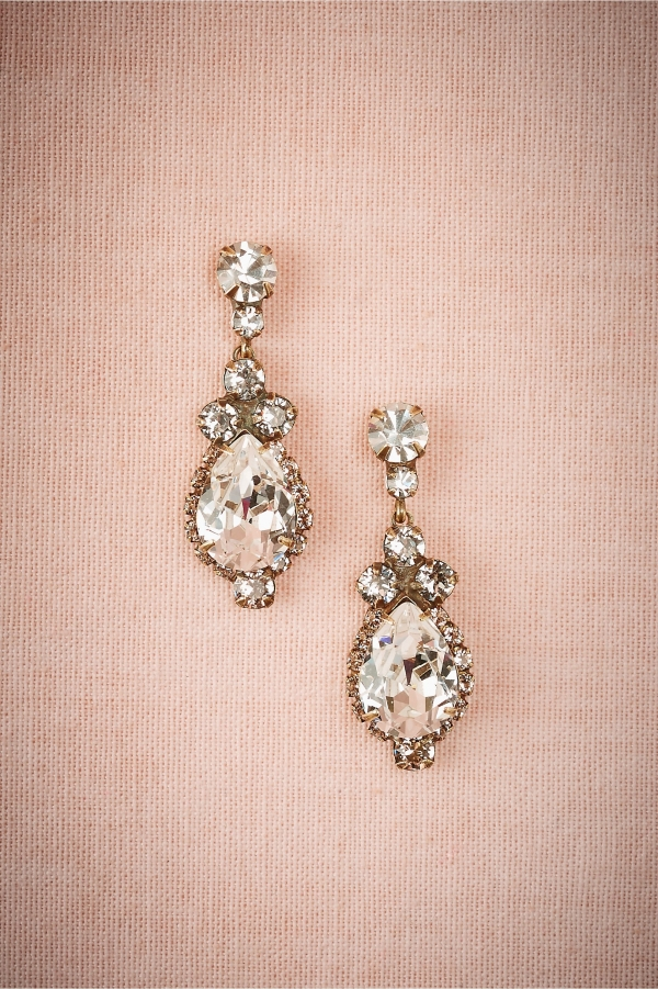 Gorgeous Swarovski crystal bridal earrings