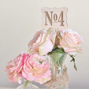 Vintage Inspired Wooden Table Numbers
