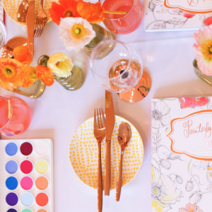 A Watercolor Inspired Party with Painterly Days
