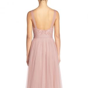 Watters 'Lisa' Illusion Yoke Gown