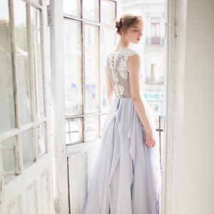 Hint of Blue Wedding Gown, photo by Masha Golub