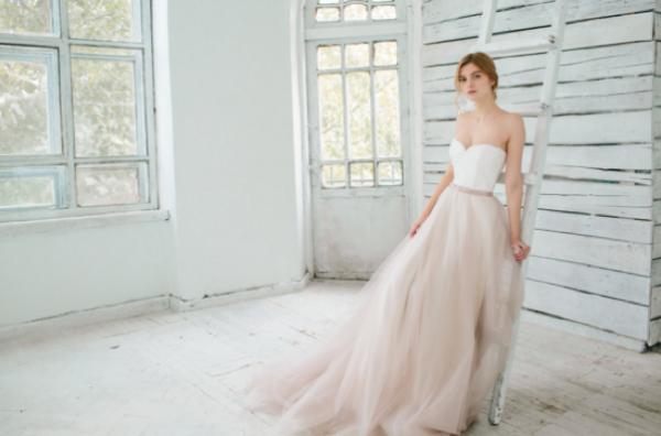 Hint of Blue Wedding Gown, photo by Masha Golub