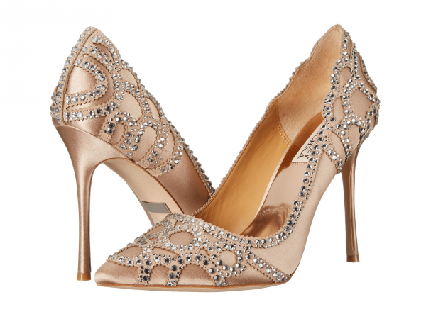 Embellished heels by Badgley Mischka