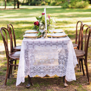 Gorgeous vintage-inspired tabletop design, photo by Wonderlust Photography
