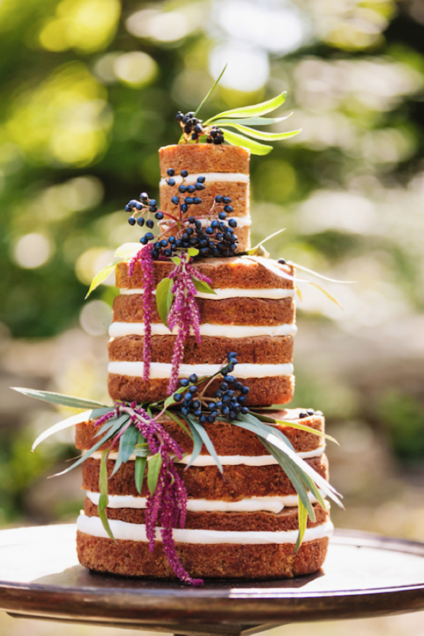 Gorgeous naked cake design by The Uncommon Cake, photo by Wonderlust Photography