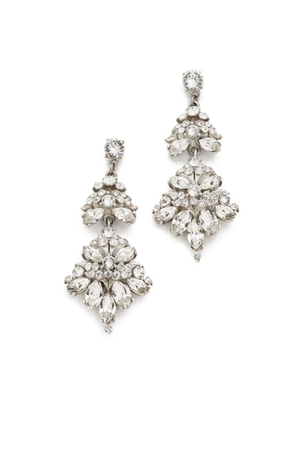 Embellished Chandelier Earrings