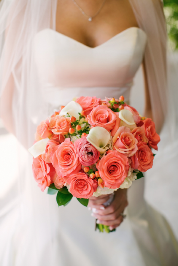 Gorgeous bouquet by Julia's Blooms, photo by Jeannine Marie Photography