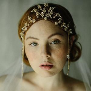 Golden Bridal Headpiece