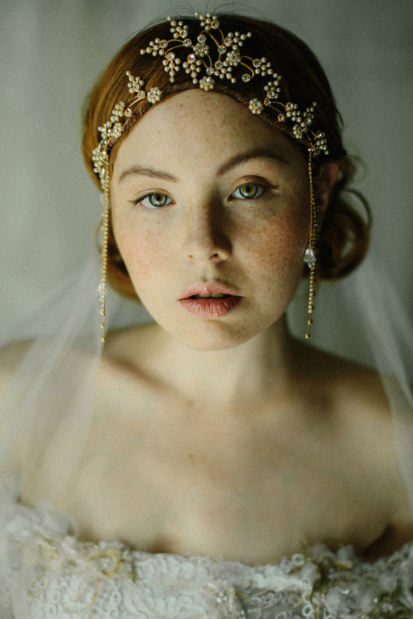 Golden Bridal Headpiece