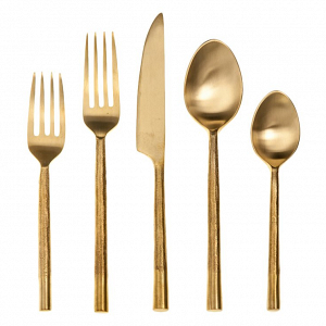Artisan Splendor Gold Flatware Set