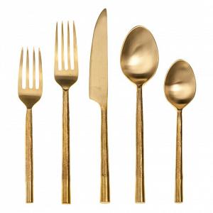 Artisan Splendor Gold Flatware Set