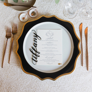 Acrylic Calligraphy Wedding Escort Cards
