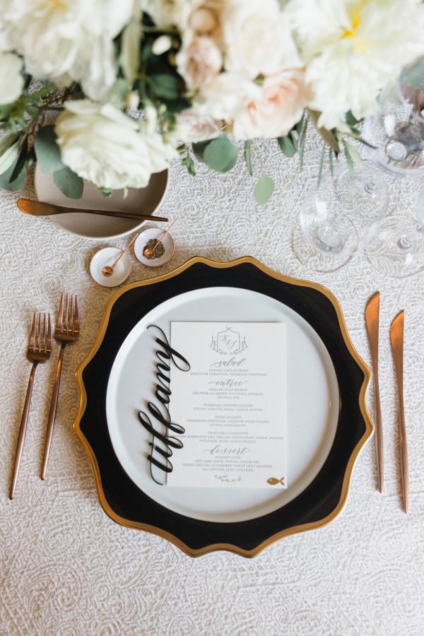 Acrylic Calligraphy Wedding Escort Cards