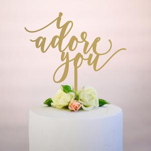 I Adore You Cake Topper