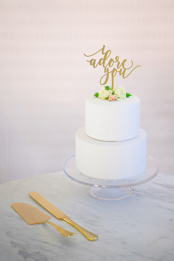 I Adore You Wedding Cake Topper