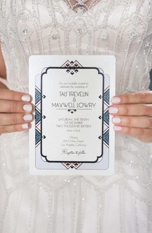 Art Deco Gatsby Wedding Invitation