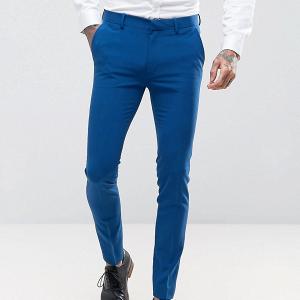 Blue Wedding Suit Pants Trousers