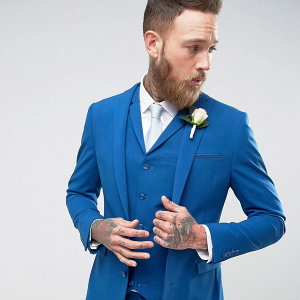 Blue Wedding Suit Jacket