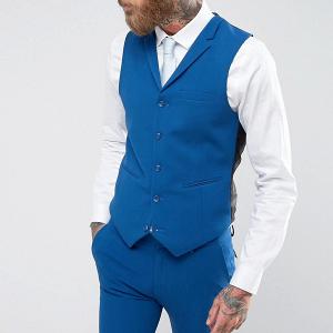 Blue Wedding Suit Waistcoat