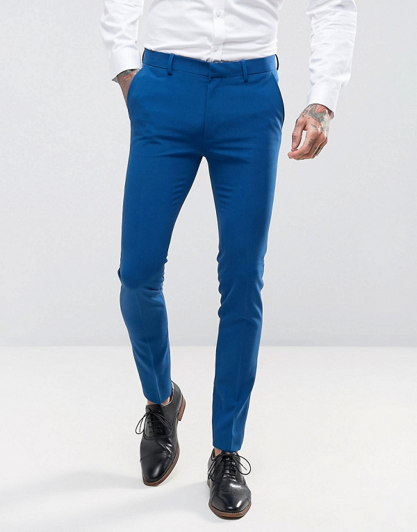Blue Wedding Suit Pants Trousers