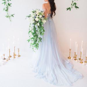 'Astrid' Blue Bridal Skirt
