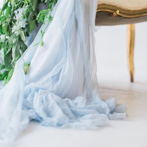 Astrid Chiffon Bridal Skirt Detail
