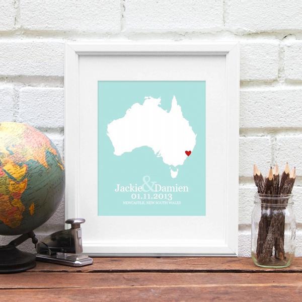 Australia Wedding Poster Gift