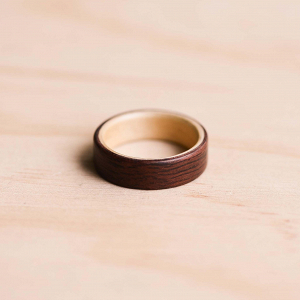 Australian Jarrah Huon Pine Wedding Ring