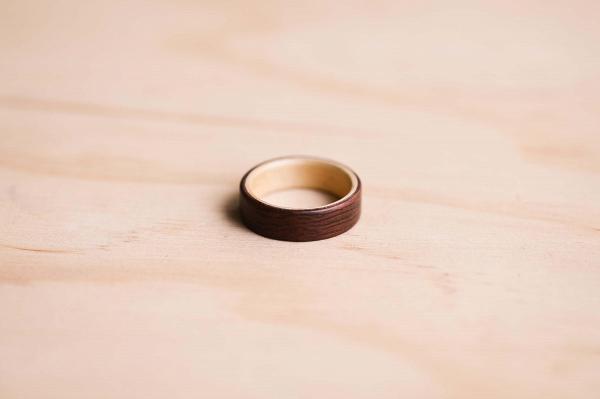 Australian Jarrah Huon Pine Wedding Ring