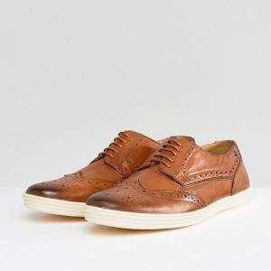 Tan Brogue Groom's Shoes