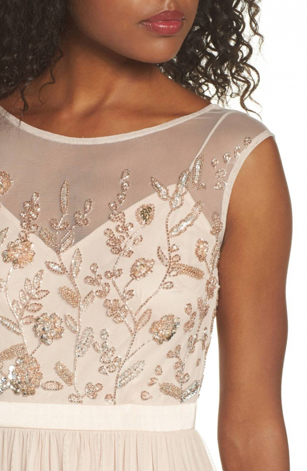 Pale Pink Embroidery Dress
