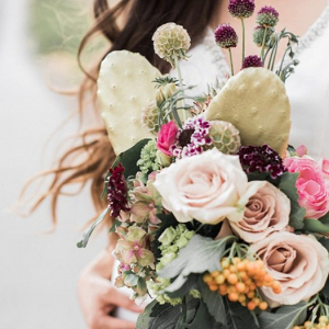 56c08e54609 Prickly Pear Cactus Wedding Bouquet