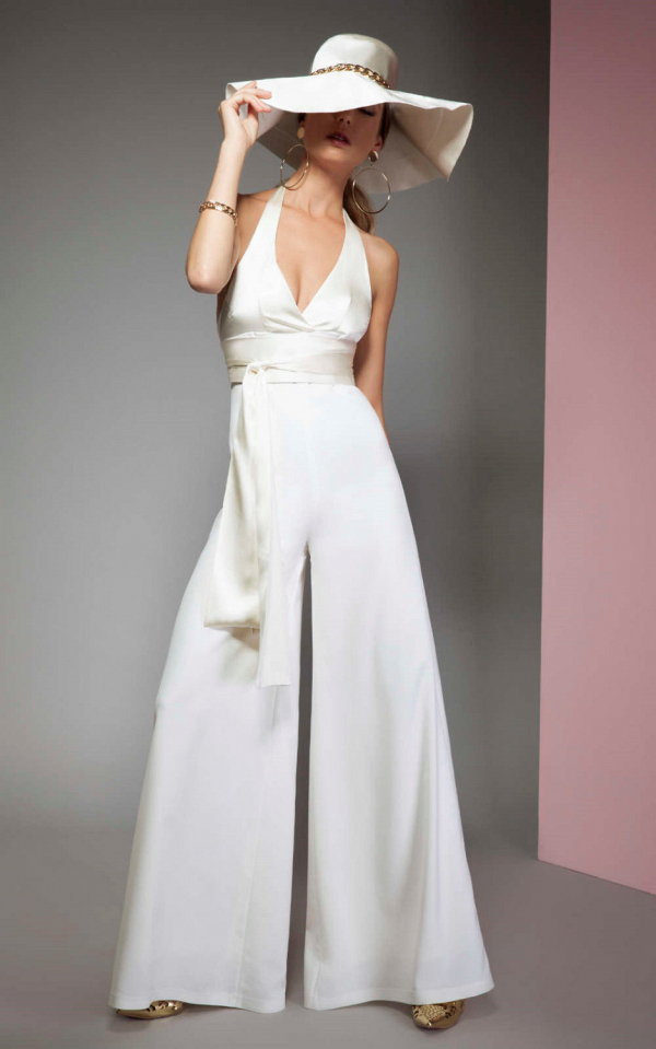 White Bridal Jumpsuit