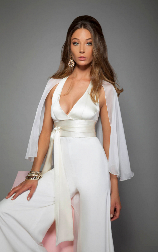 70s Inspired Bridal Jumpsuit