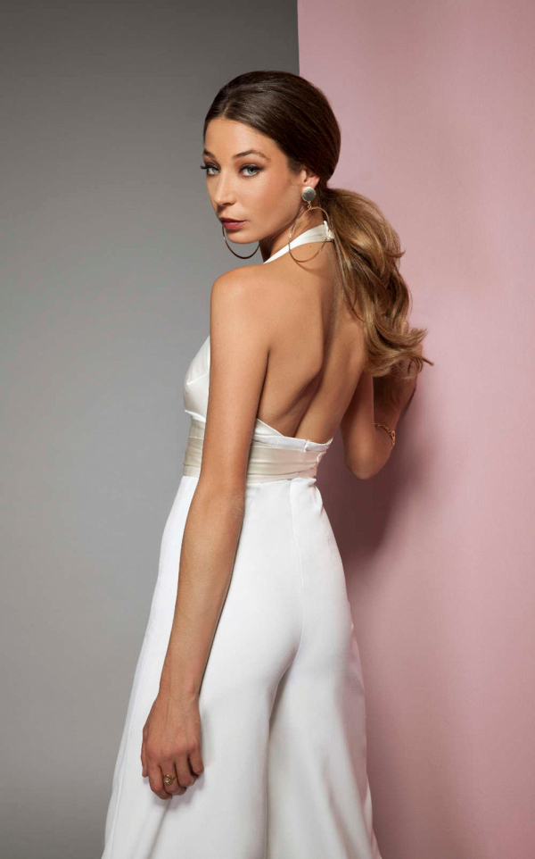 Bridal Jumpsuit Back