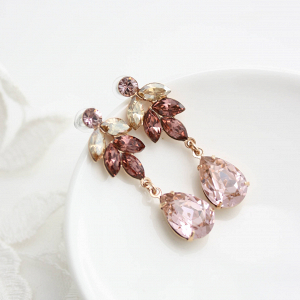 Blush Drop Earrings