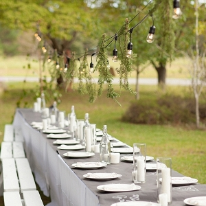Bistro lights for family table