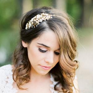Bronze Bridal Head Band