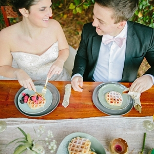 Breakfast wedding ideas with waffles