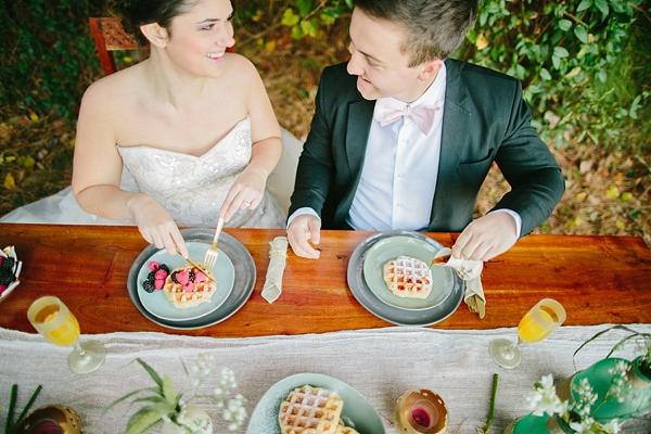 Breakfast wedding ideas with waffles