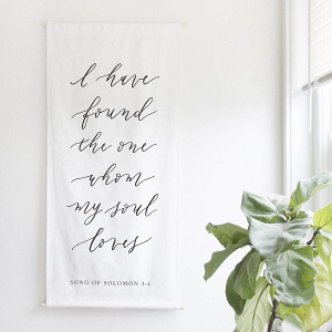 Calligraphy Ceremony Backdrop Bible Verse