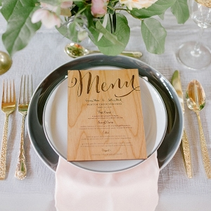 Wooden engraved menu