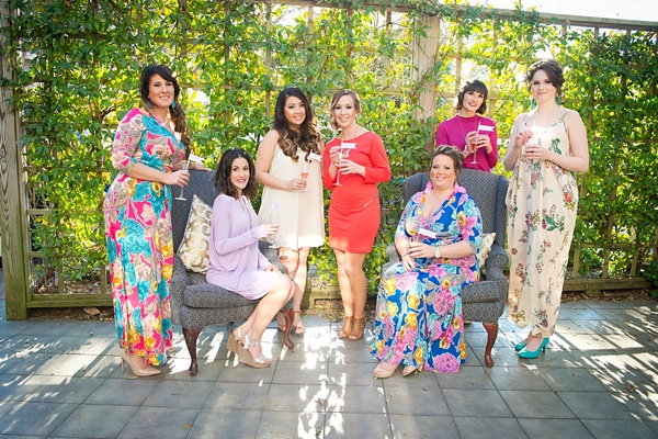 Chic bridal shower attendees