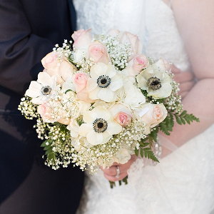 Blush Pink and White Bridal Bouquet