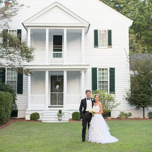 Historic estate bride and groom