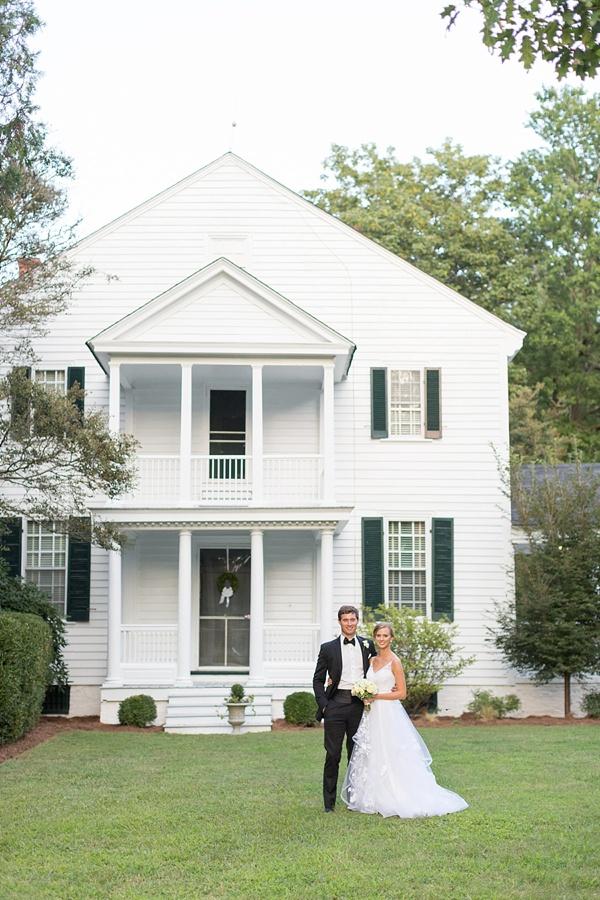 Historic estate bride and groom